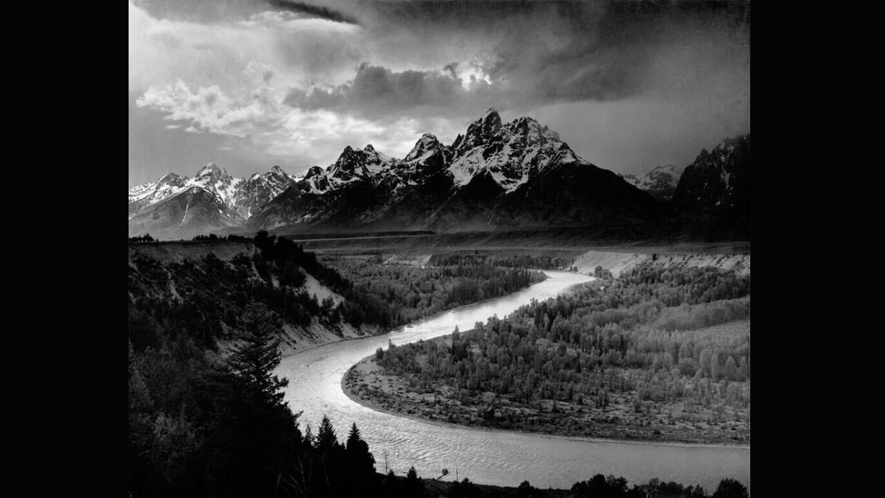 عکس رودخانه مار توسط عکاس امریکایی انسل آدامز