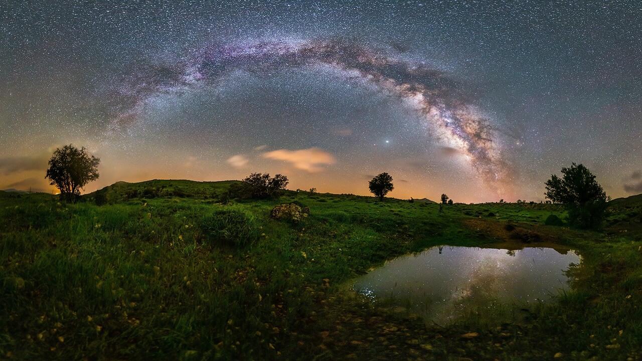 عکس با ایزوی مشخص مربوط به مقاله یک روش کاربردی برای ترکیب بندی در عکاسی منظره در شب