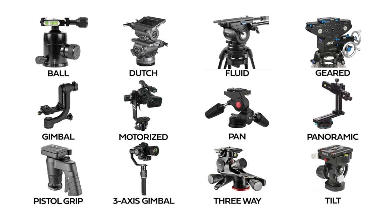 عکس انواع سر سه پایه مربوط به مقاله سه پایه عکاسی منظره در شب